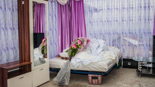 Fotos dos quartos montados para casamentos Pomak