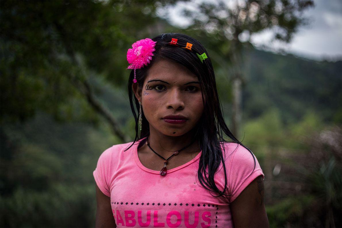 Yuliana pertence ao grupo étnico Emberá Katio