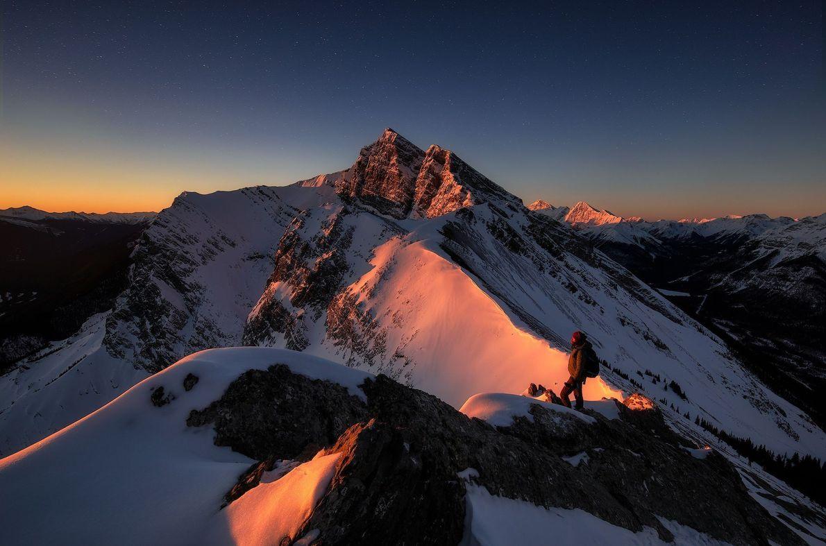Brilho alpino de inverno.
