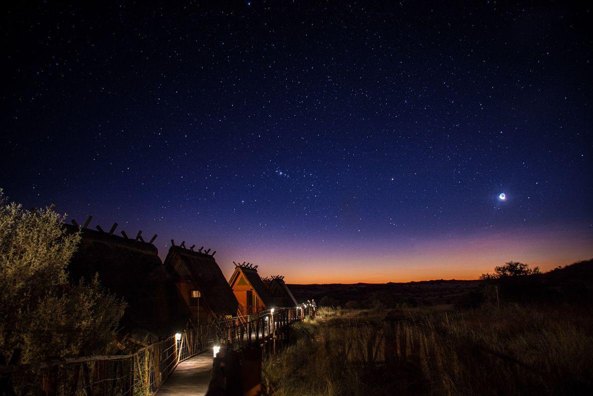 Deserto de Kalahari, sul da África No interior do !Ae!Hai Kalahari Heritage Park, um dos lugares mais ...