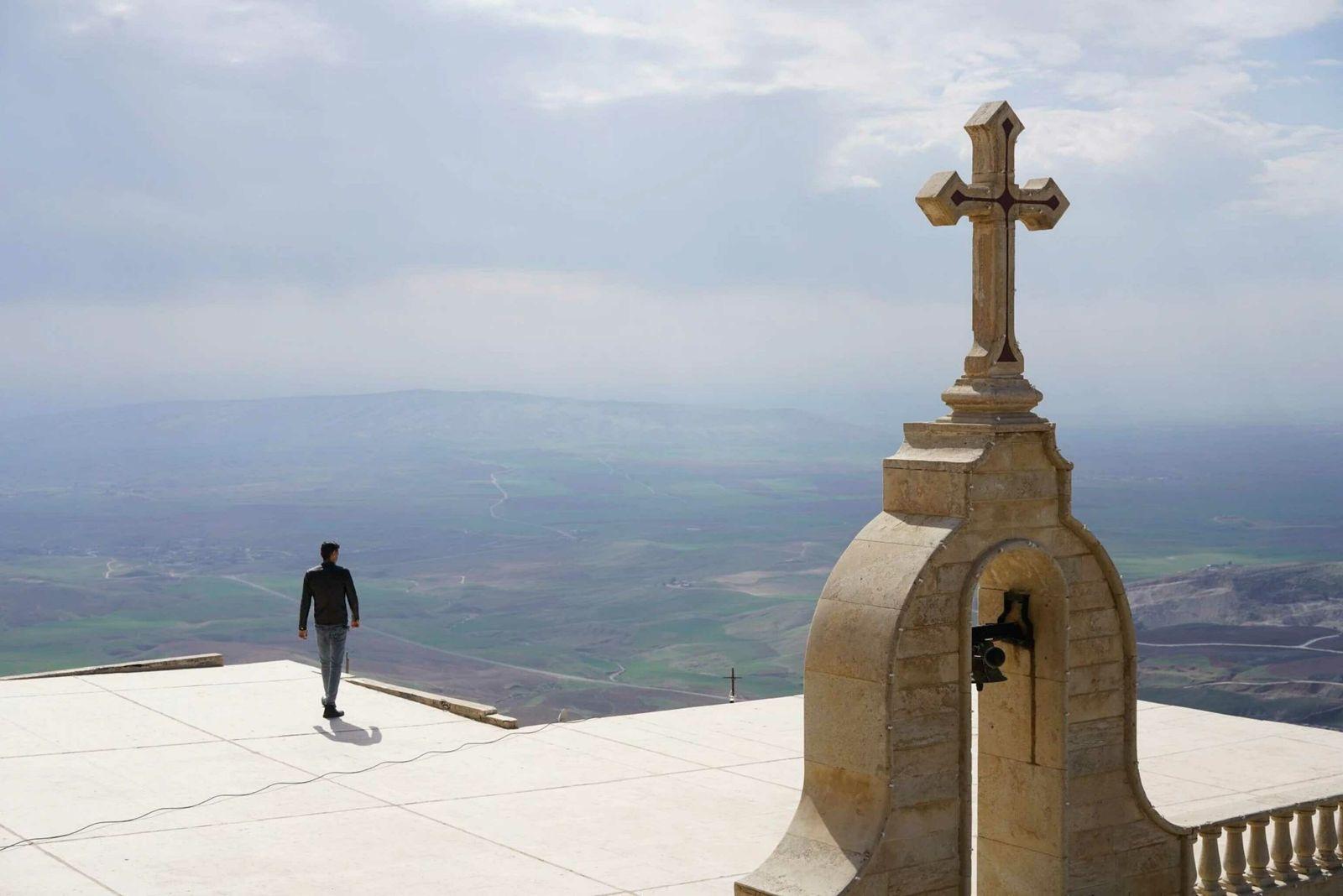 Vilas cristãs se estendem pela região da Planície de Nínive, no norte do Iraque. Durante a ...