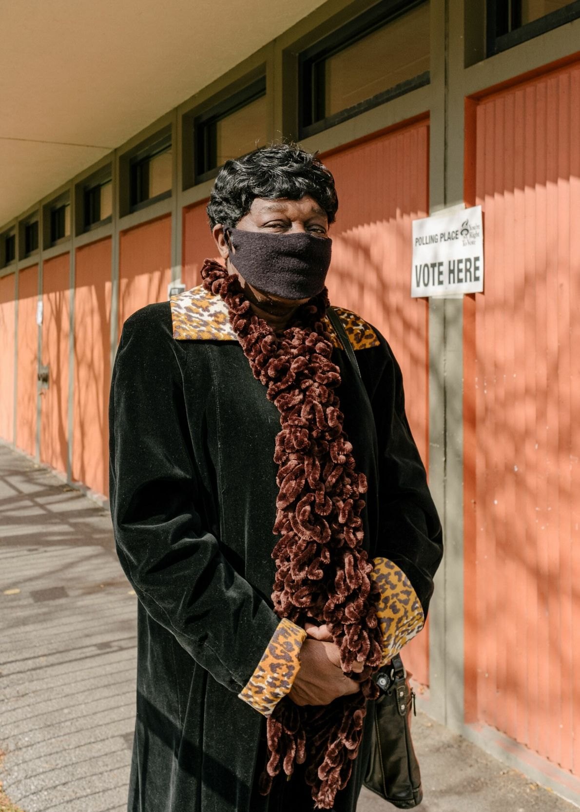 Edith Singleton, que mora em Rochester, Nova York, há 45 anos, votou cedo no Centro Comunitário ...