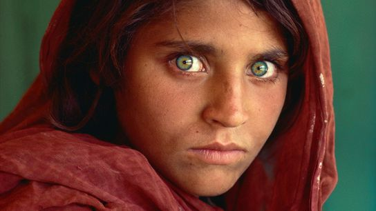This portrait of Sharbat Gula, then a young refugee living in Afghanistan, appeared on the June ...
