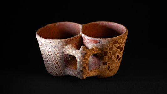 Peças encontradas no sítio arqueológico El Olivar, La Serena, Chile