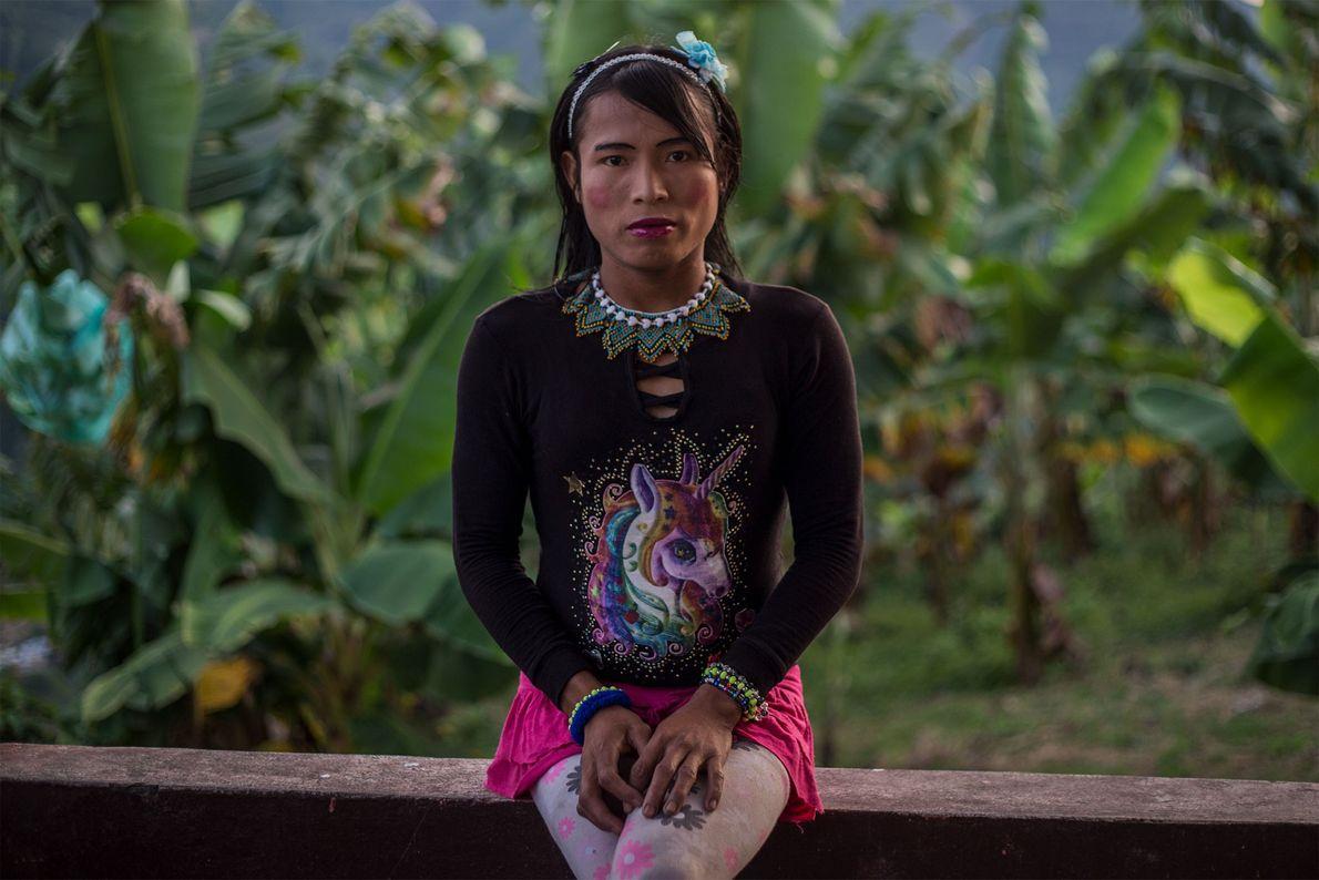 Francy, membro do grupo étnico Emberá Katio