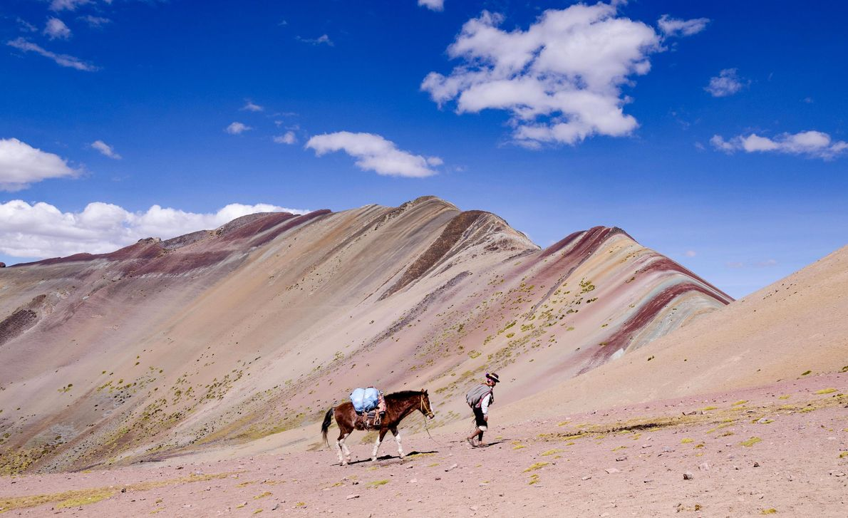 Montanhas coloridas de vinicunca peru