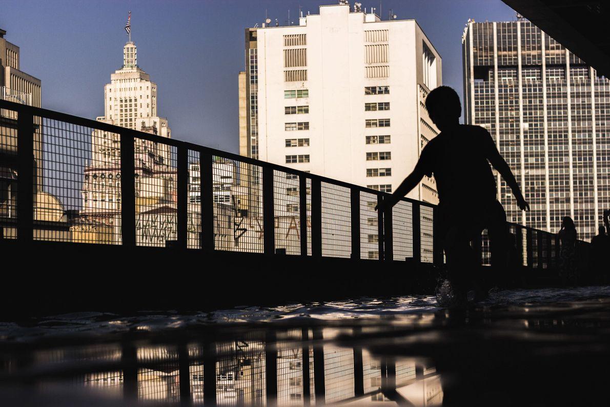 Terraço do Sesc 24 de Maio, no centro de São Paulo (SP).