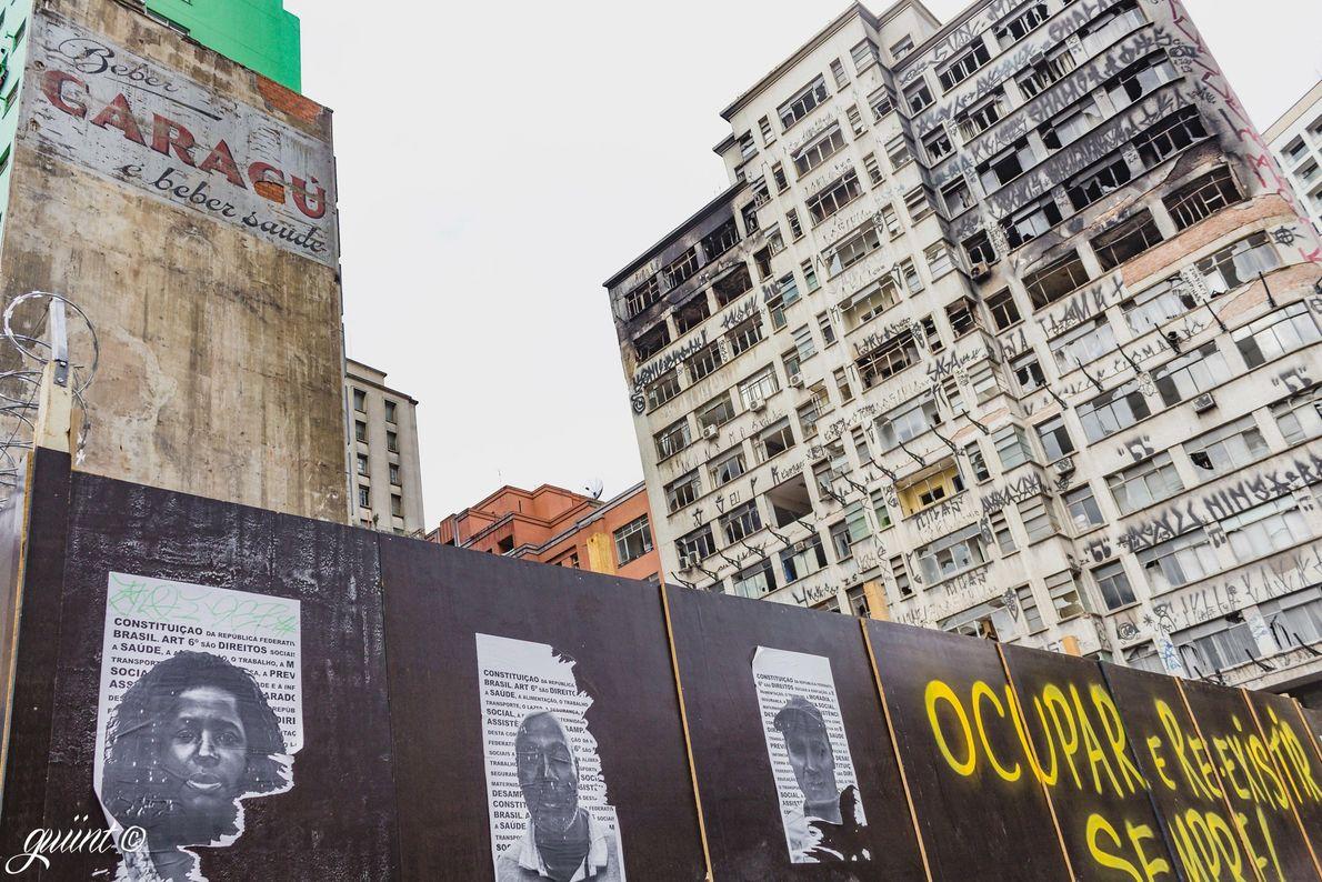 Terreno onde ficava o edifício Wilton Paes de Almeida, no Largo do Paissandu, em São Paulo ...