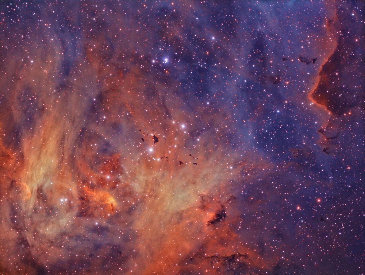 Retrato da Nebulosa de Lambda Centauri.