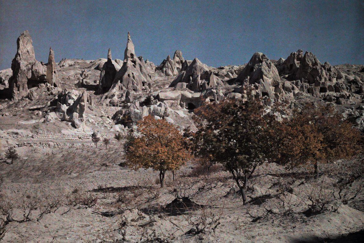 Os primeiros cristãos se abrigavam em cavernas na Capadócia, na Turquia.