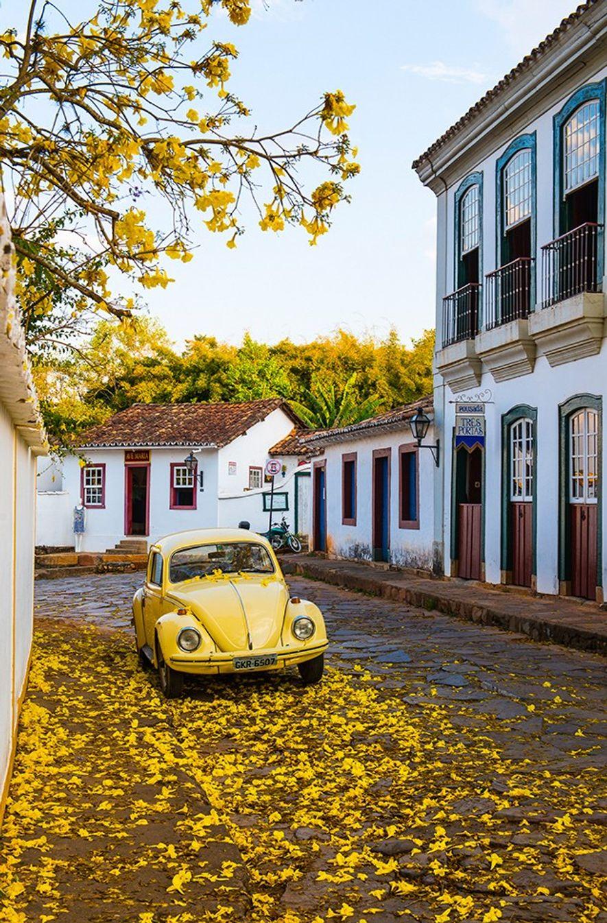 O amarelo toma conta de Tiradentes, Minas Gerais.