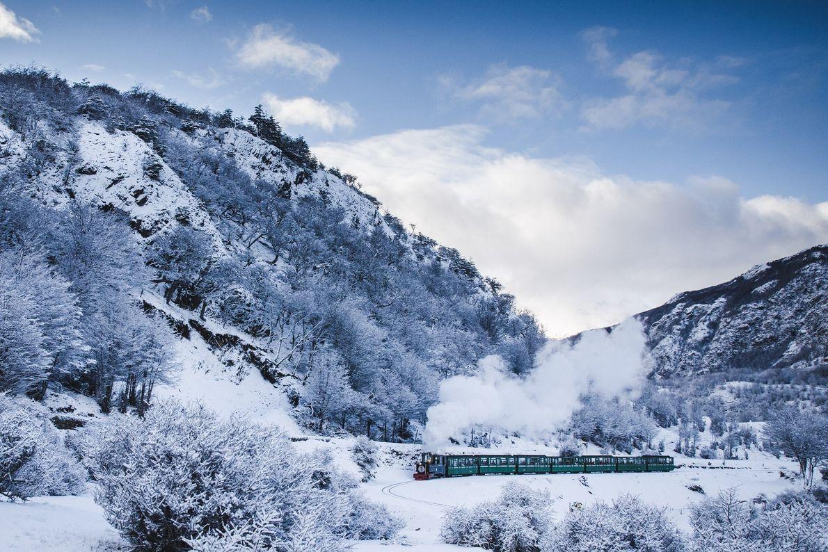 trem na neve ushuaia, argentina