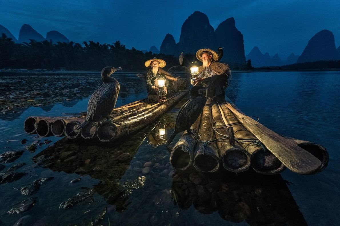 Pescadores chineses