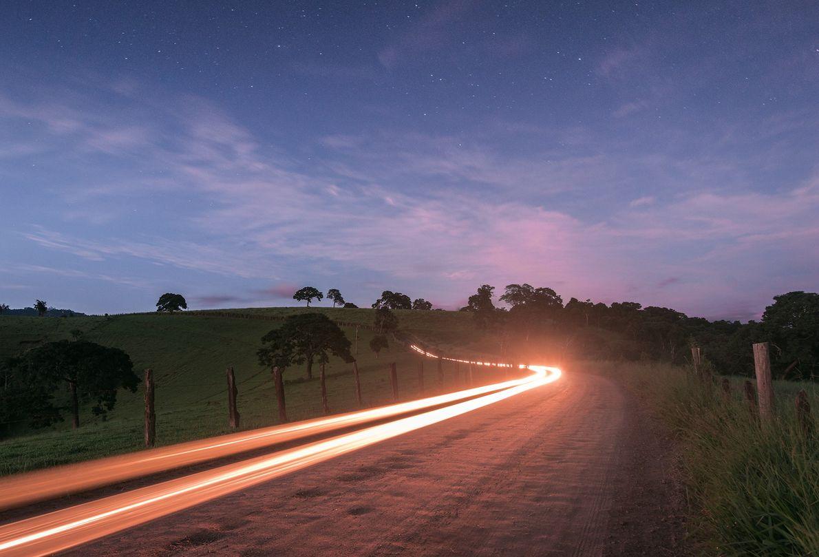 luz na estrada