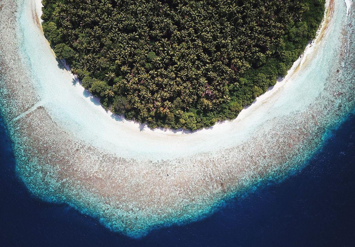 Paraíso na República das Maldivas.