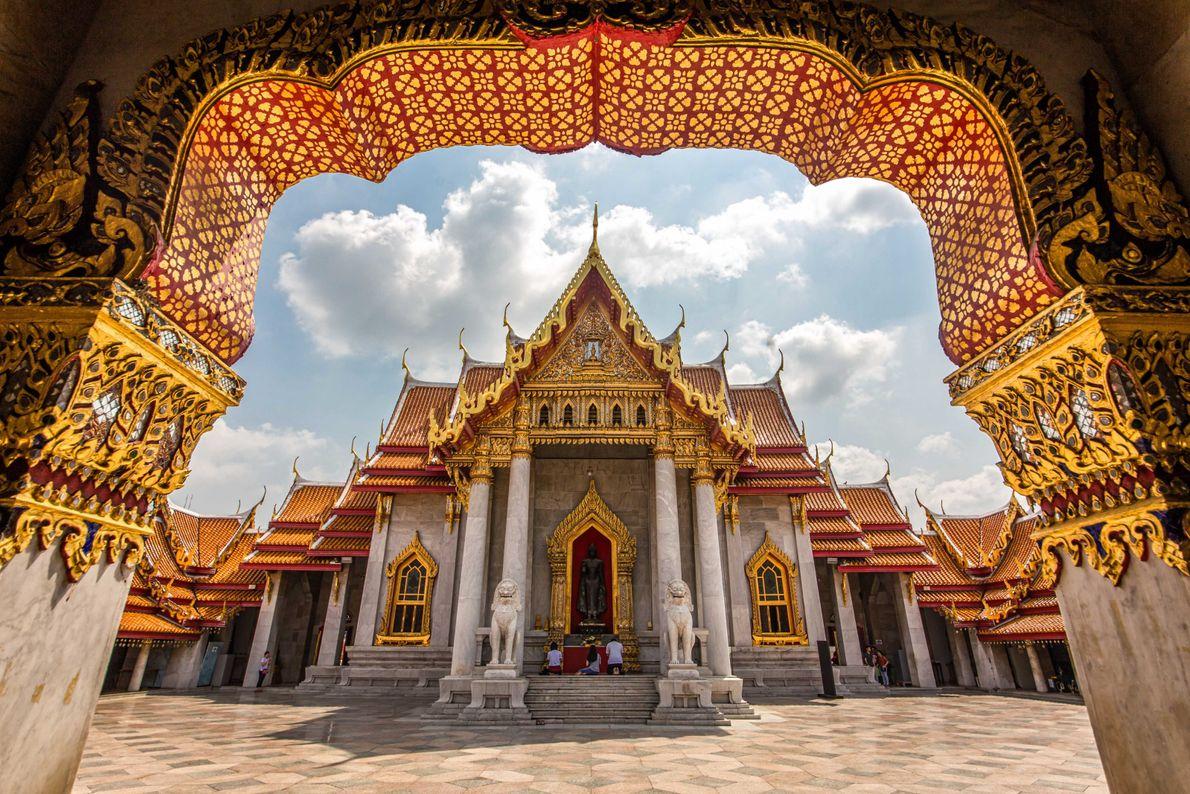 Templo de mármore em Bangkok, Tailândia.