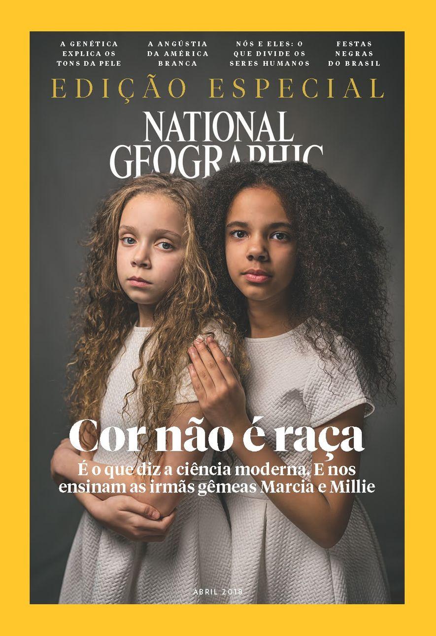 Capa da edição de abril de 2018 da revista National Geographic Brasil.