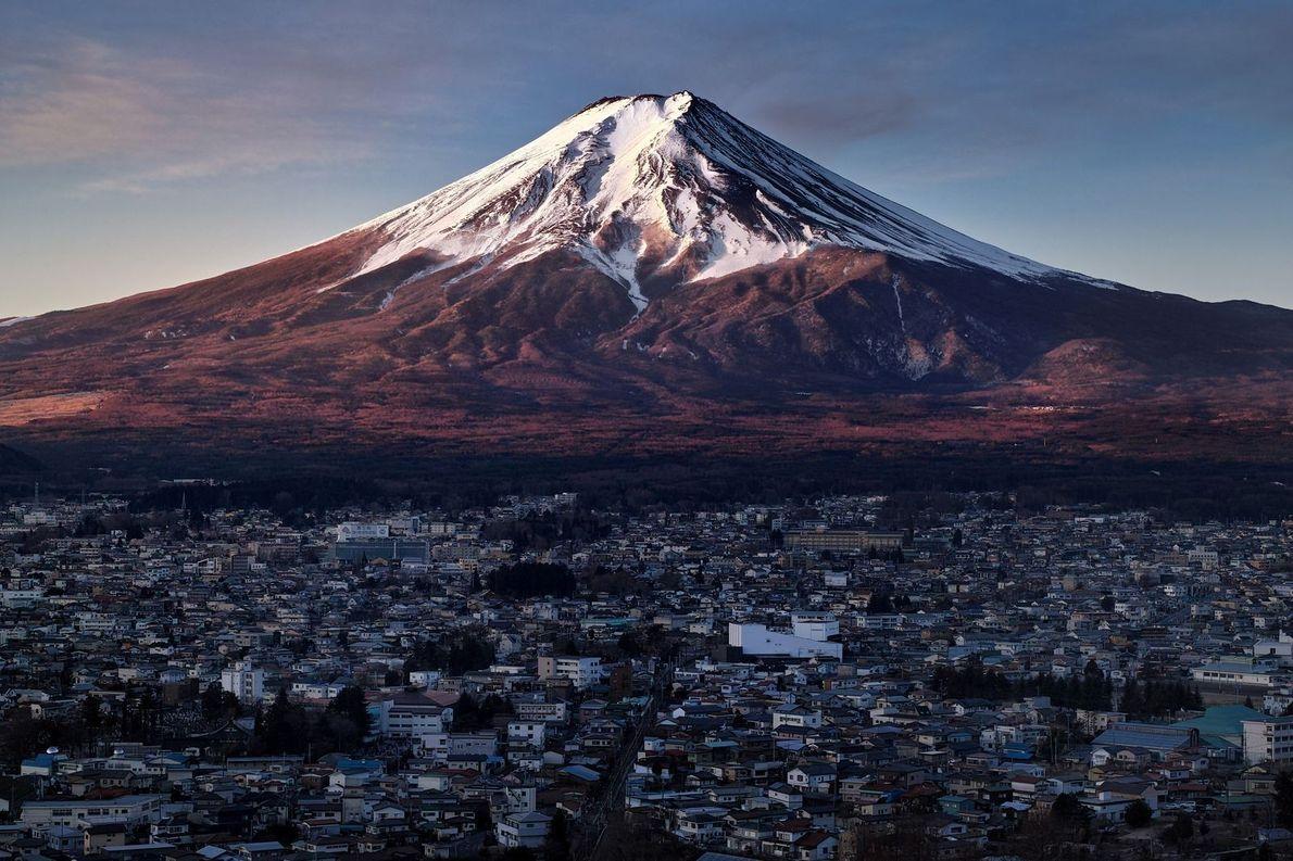 Monte Fuji pela manhã