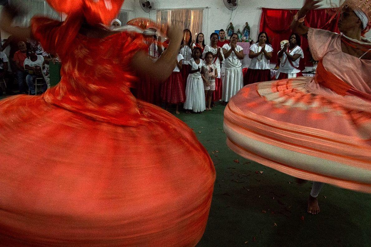 Festa de Iansã em terreiro de candomblé no Rio de Janeiro.