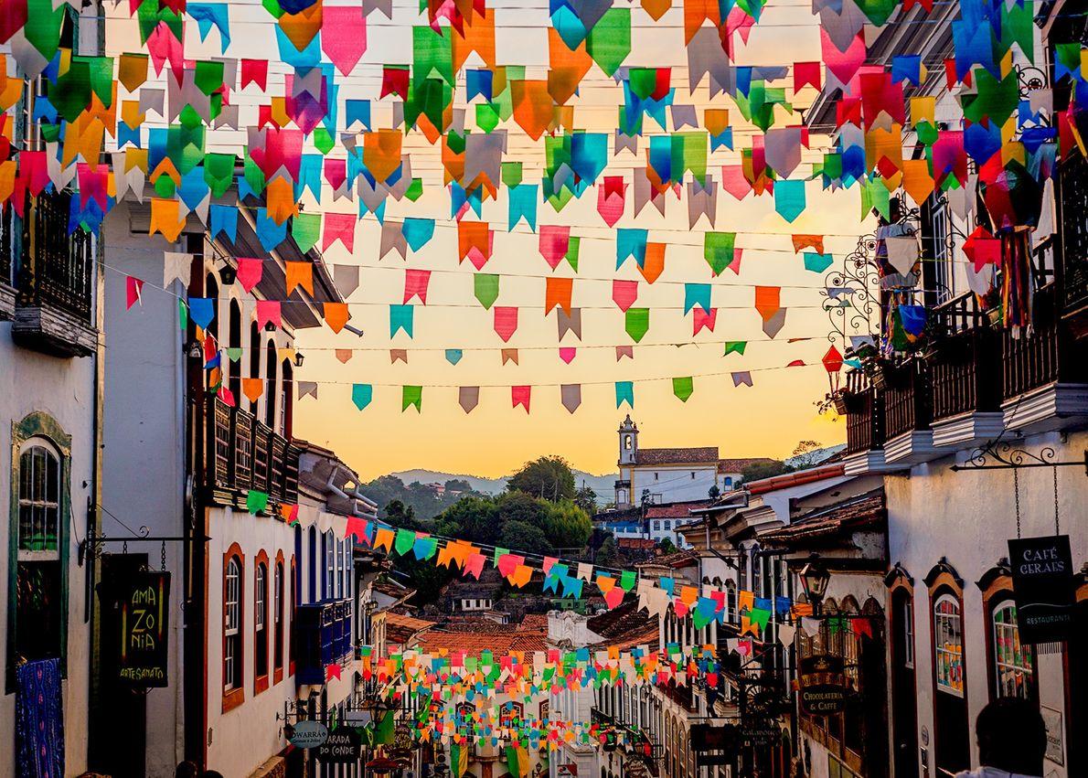Tempo de festas juninas em Ouro Preto (MG).