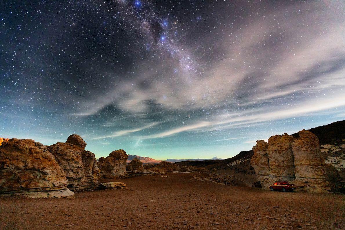 Salar de Tara, no deserto do Atacama, Chile.