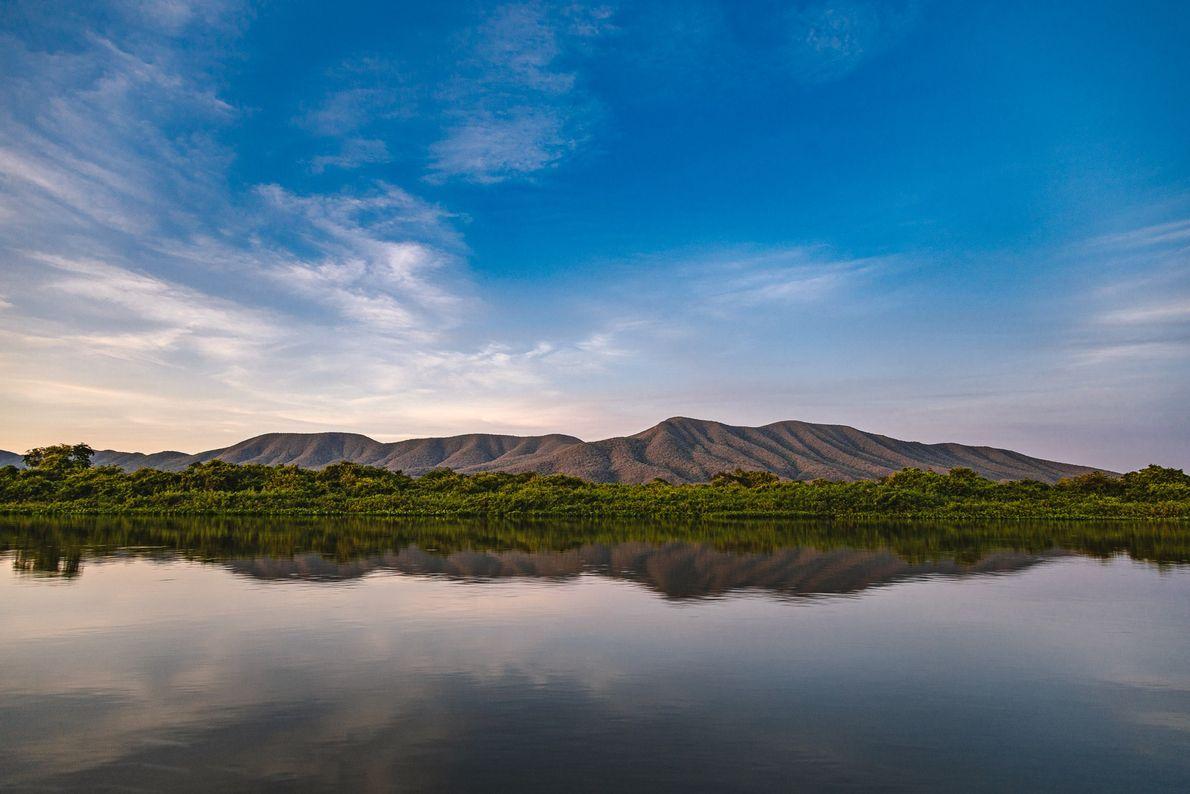 Calmaria na Serra do Amolar, no Pantanal próximo a Corumbá (MS).