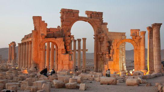 Arco de Palmira destruído pelo Isis