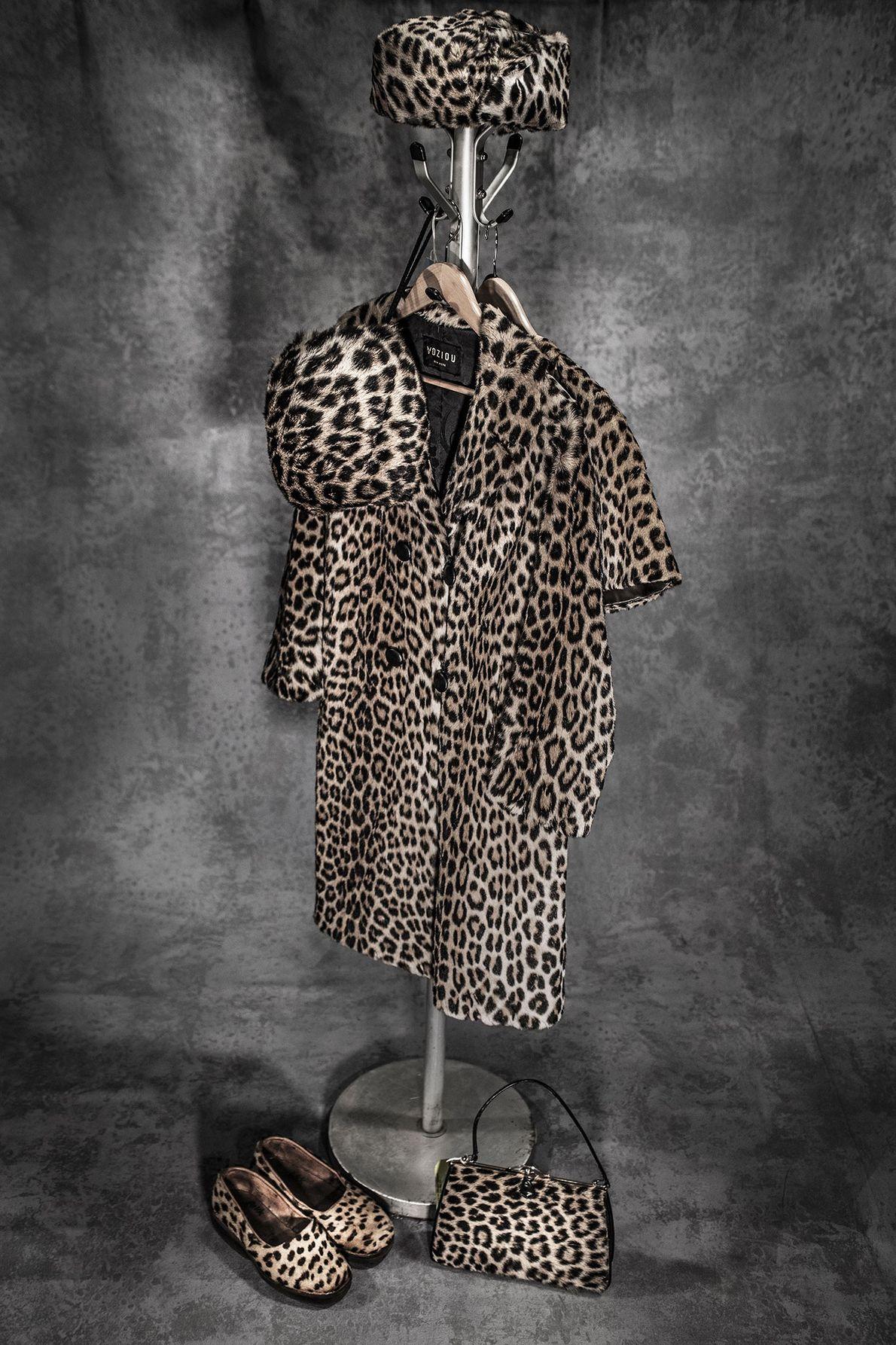 Peças de roupas de pele de leopardos.