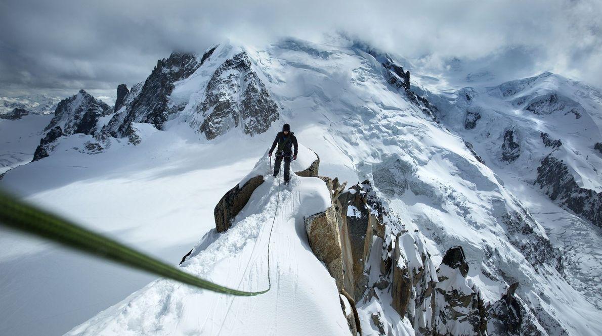 Maciço Monte Branco, em Chamonix, na França.