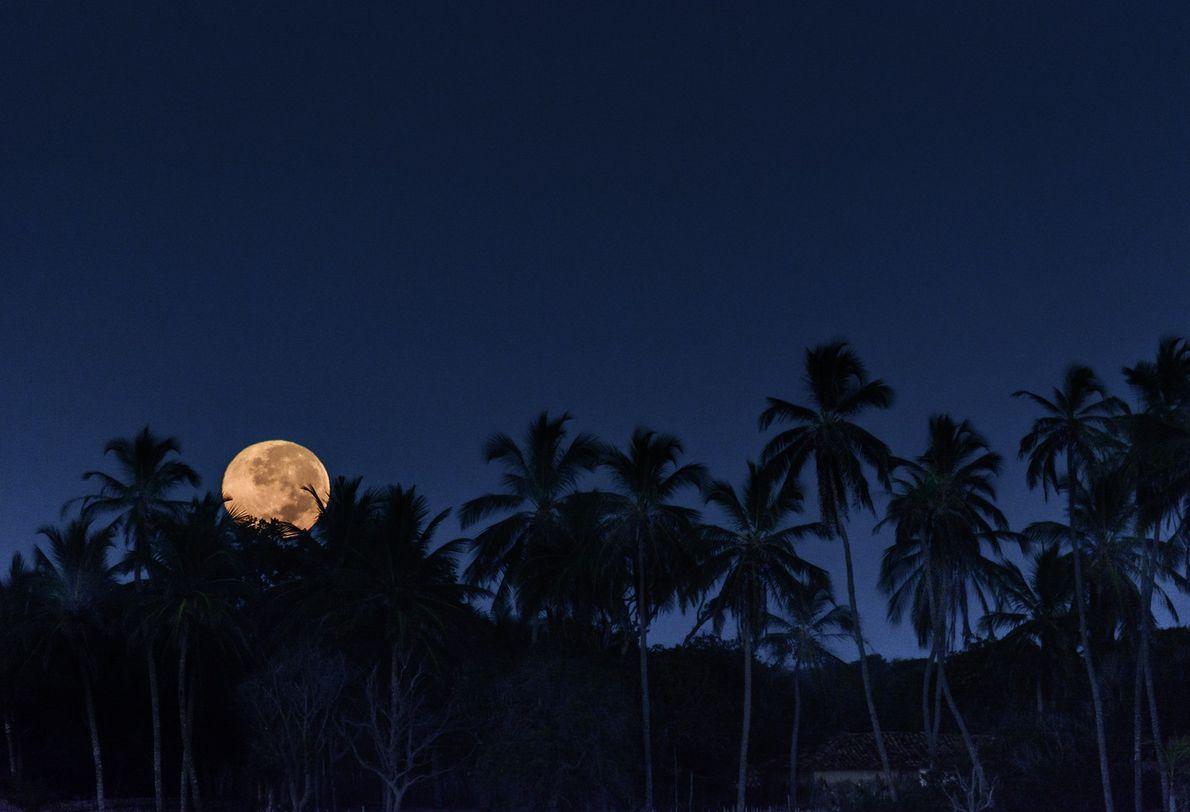 Lua cheia nos Lençois Maranhenses