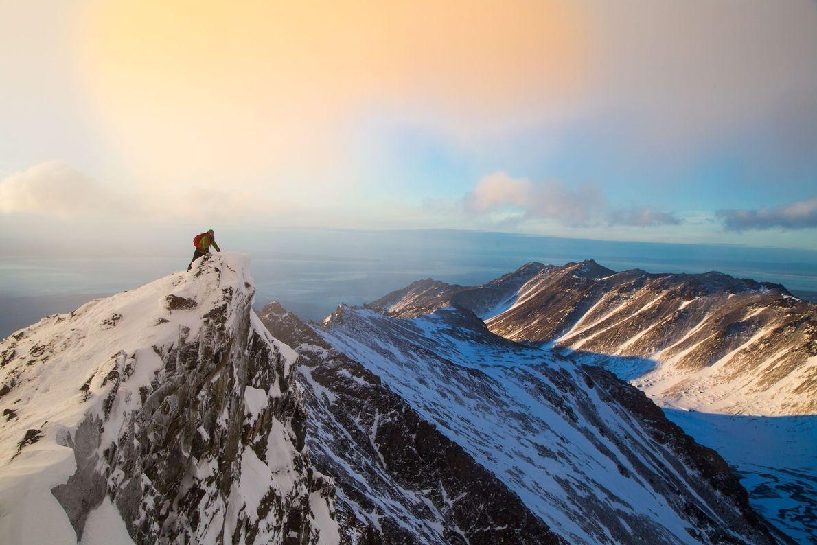South Suicide Peak, no Parque Estadual Chugach, no Alasca.