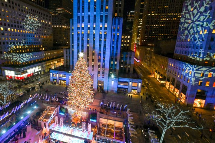 A árvore de Natal do Centro Rockefeller, em Nova York, é uma das mais famosas do ...