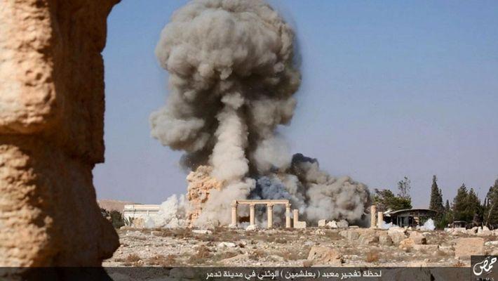Templo Baal Shamin Palmira desctruído
