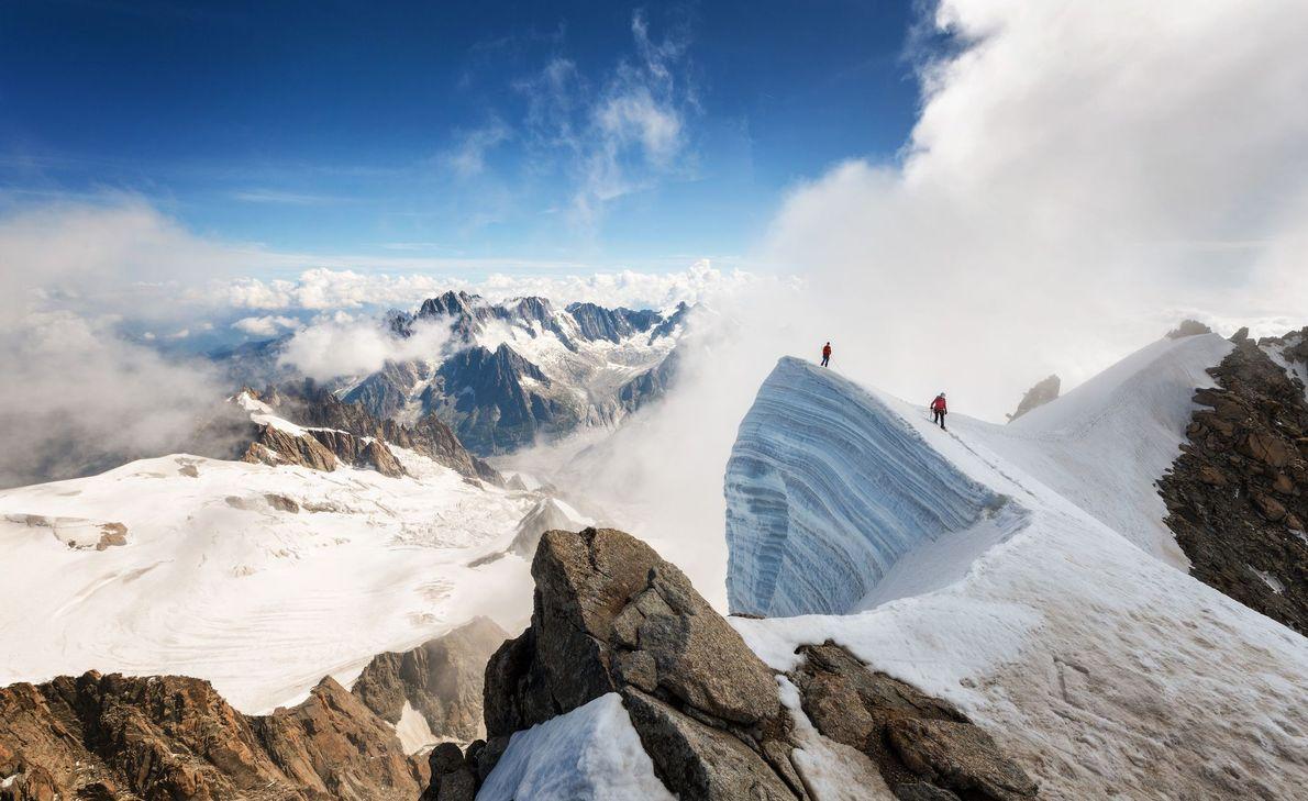 Mont Blanc du Tacul, nos Alpes Franceses.