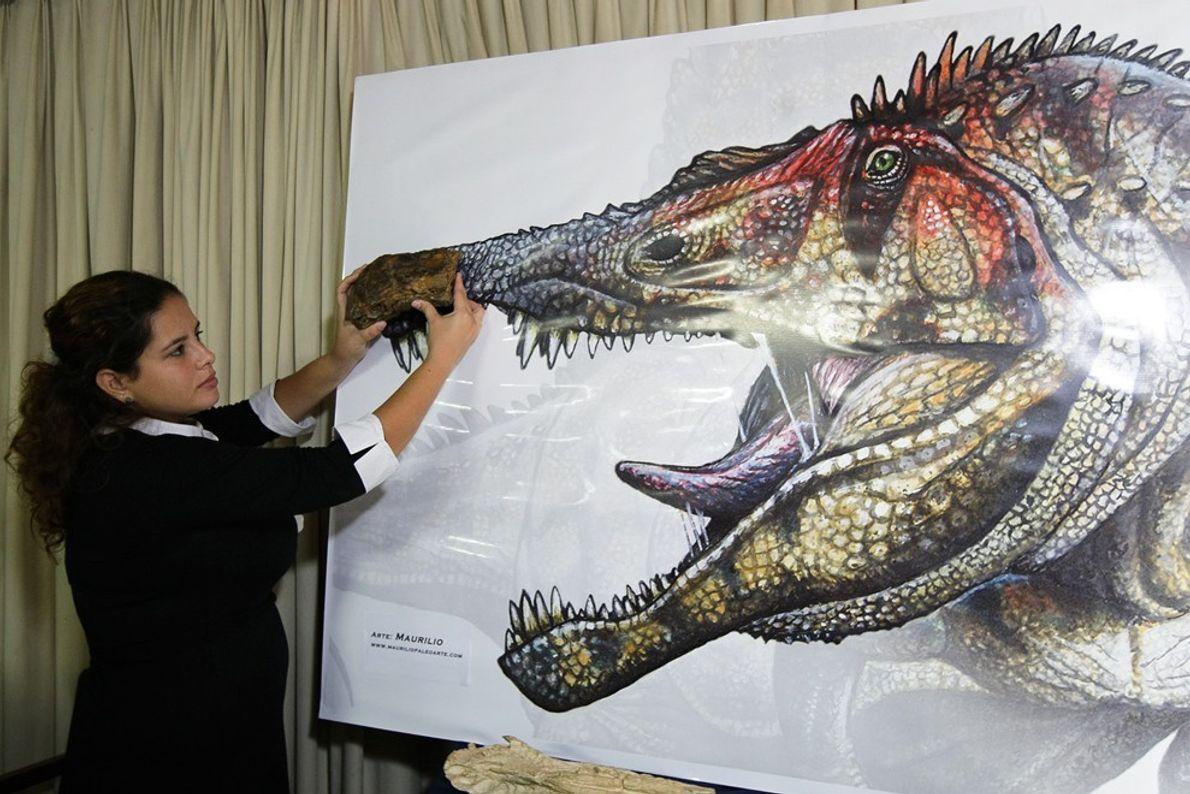 aligator parecido com dinossauro