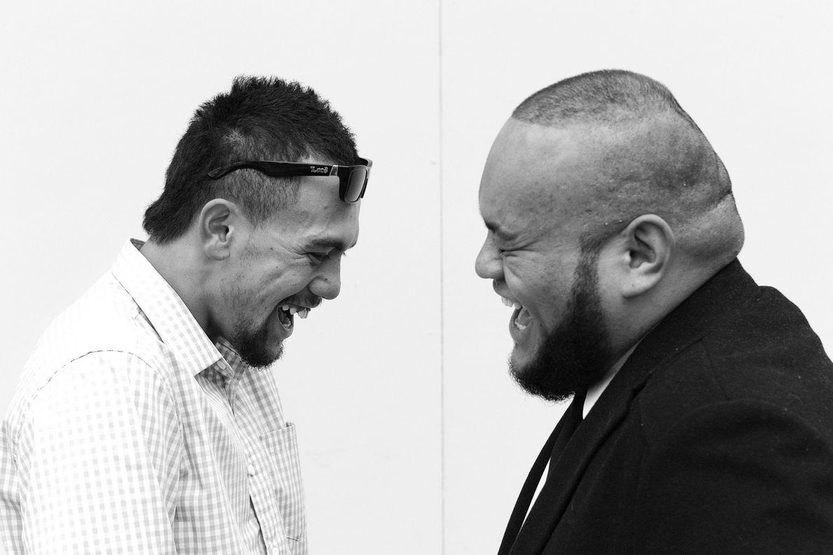 Dois homens maori