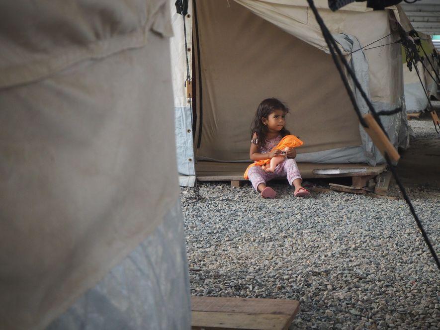 Abrigo temporário em Boa Vista, Roraima.
