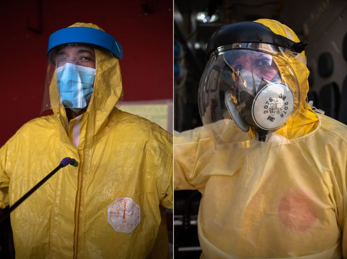 Renan Chaves (à esquerda), condutor e socorrista de emergência, e Andrea Valentim, enfermeira de emergências há 15 ...
