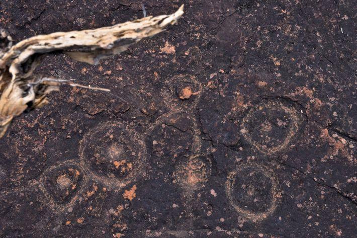 Essas gravuras em baixo-revelo encontradas no Sítio Arqueológico do Bisnau, em Formosa (GO), são chamadas de ...