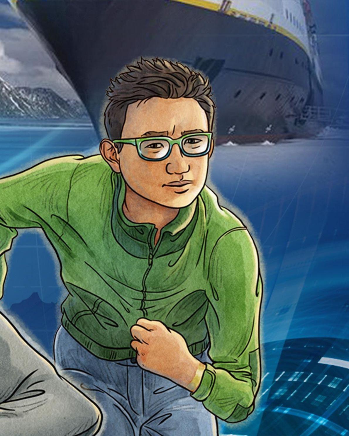 Emmett Lu é colega de quarto de Cruz na Academia Explorers, um canadense que é um …
