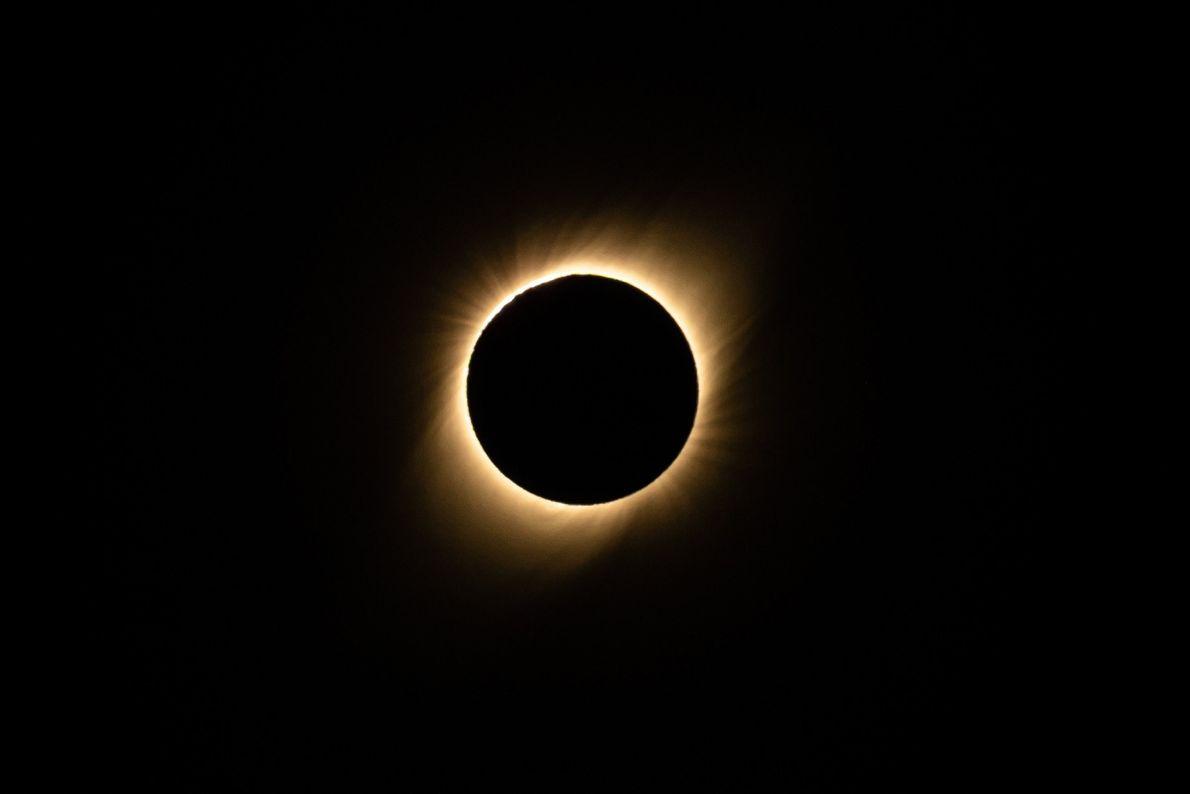 Eclipse solar total, visto do Chile, em 2 de julho de 2019.