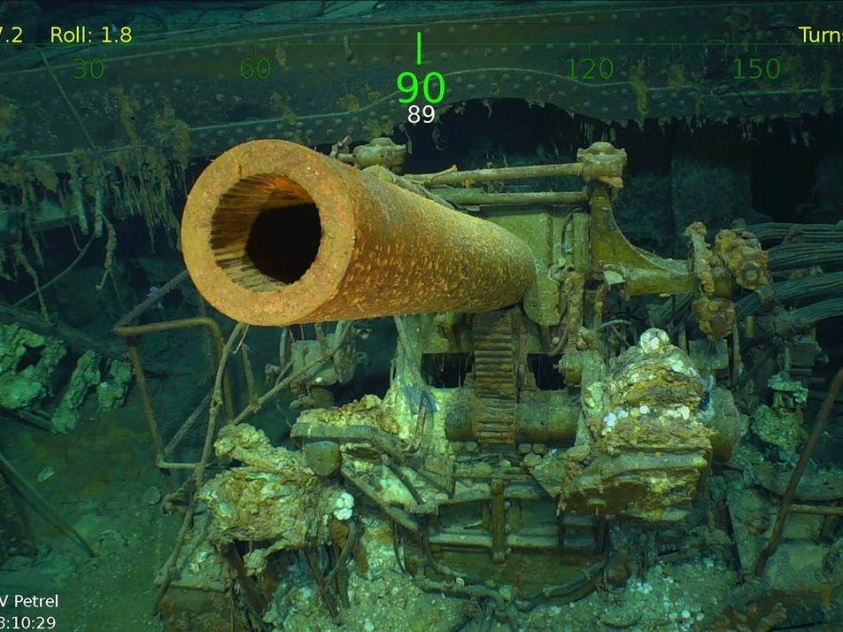 Encontrado porta-aviões naufragado na Segunda Guerra