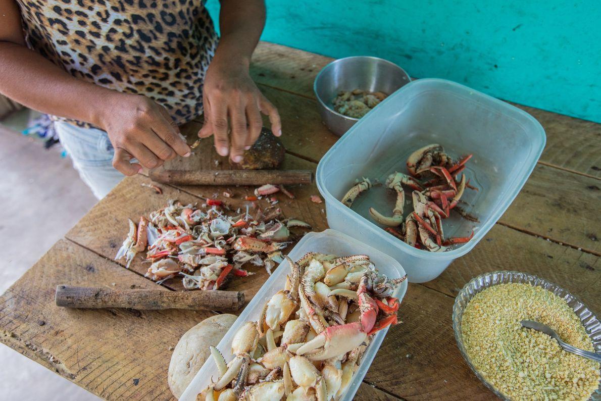 Limpo e cozido, cada caranguejo gera cerca de 33 g de carne – rica em ácidos ...