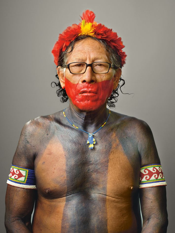 Retrato do PUKATIRE, líder caiapó