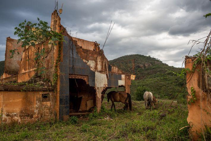 restos povoado de bento rodrigues