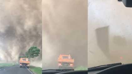 O que acontece se você dirigir para dentro de um tornado? Dê uma olhada.
