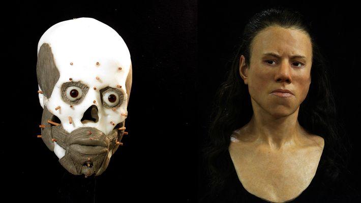 Veja a reconstrução do rosto de uma mulher que viveu há 9 mil anos