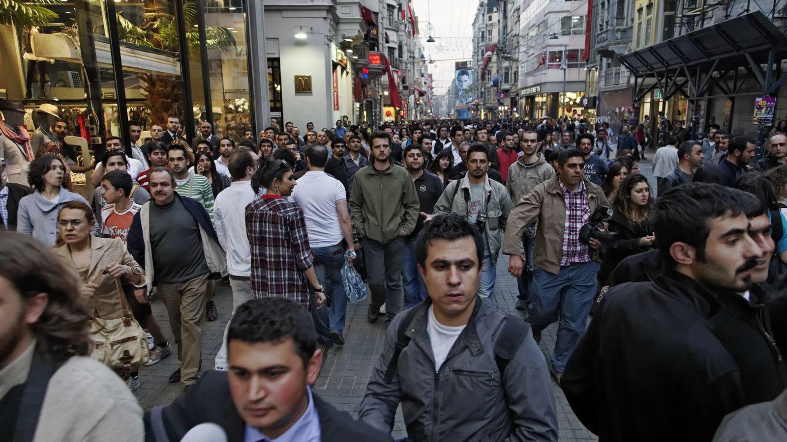 Pessoas em Istambul, Turquia