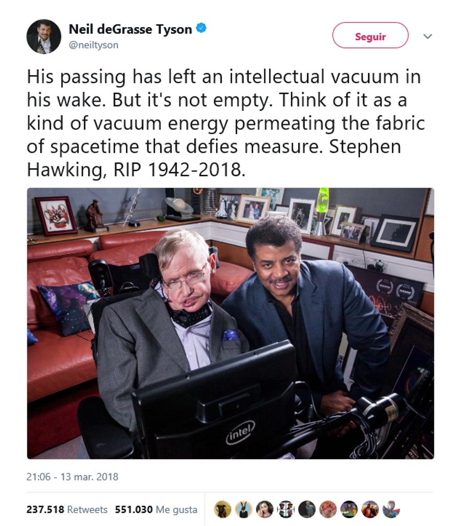 O mundo se despede de Stephen Hawking pelas redes sociais