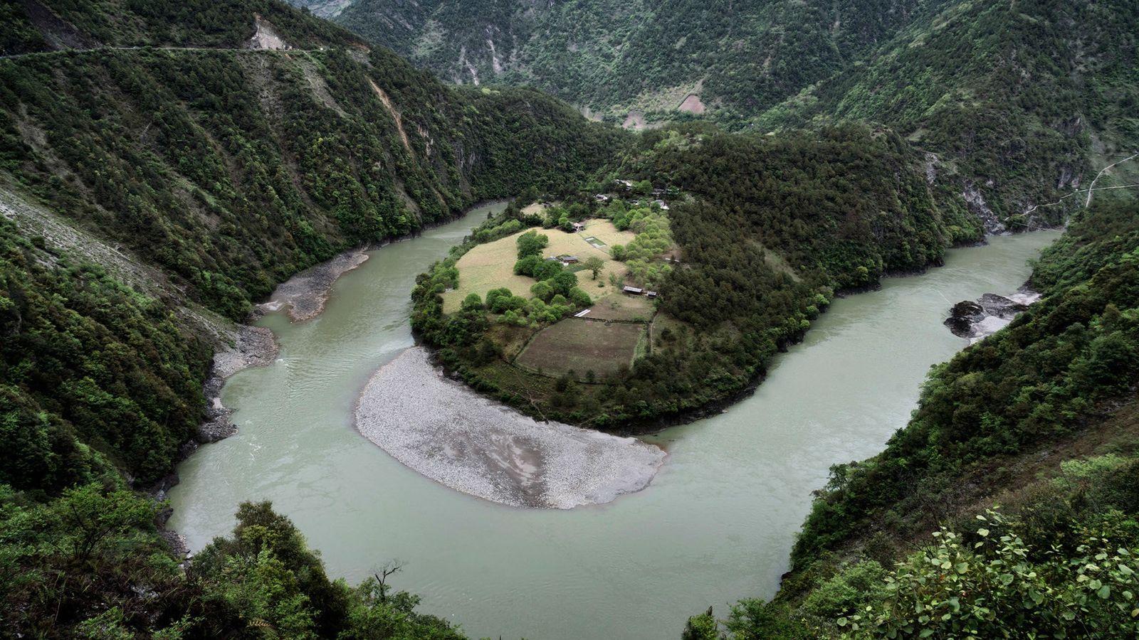 Imagem do Rio Nu, Yunnan, China